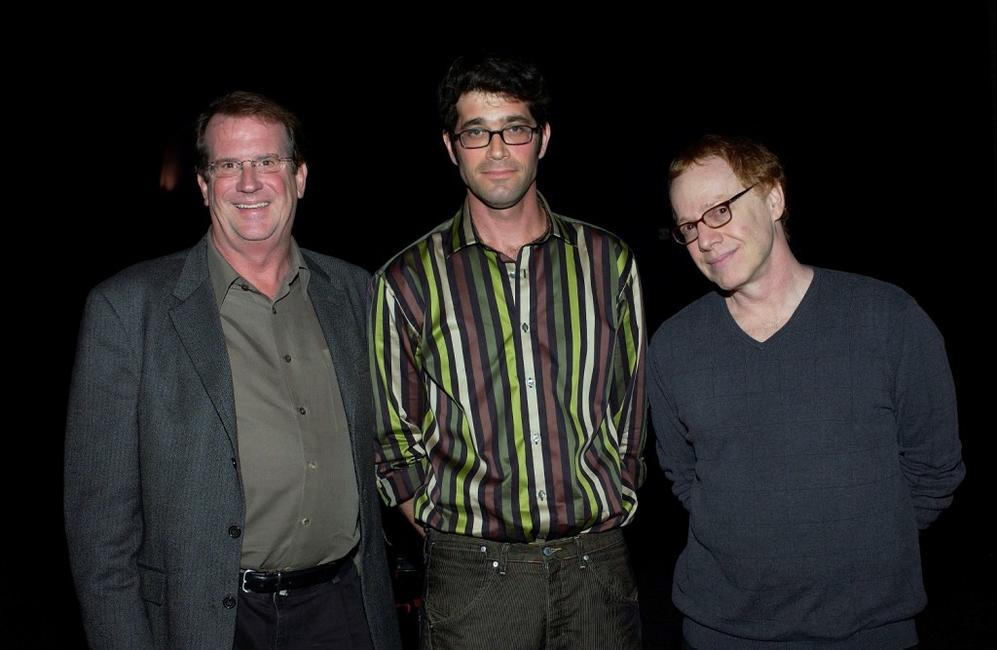 Danny Elfman, Pete Hammond and Mike Johnson at the Variety Screening Series of