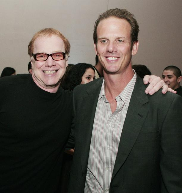 Danny Elfman and Peter Berg pose at the after party for the premiere of