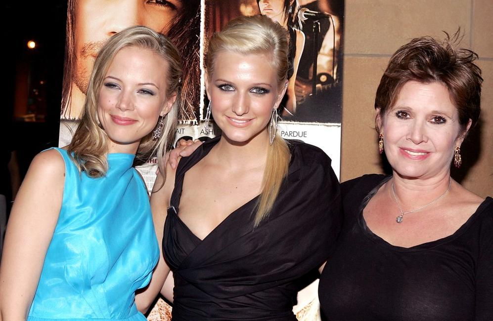 Carrie Fisher, Pell James and Ashlee Simpson at the Los Angeles Premiere of