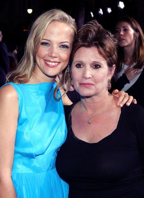 Carrie Fisher and Pell James at the Premiere of