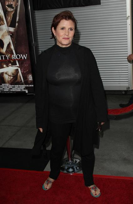 Carrie Fisher at the California premiere of