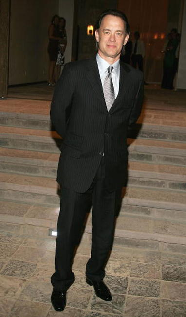 Tom Hanks at the Gucci Spring 2006 Fashion Show in Beverly Hills.
