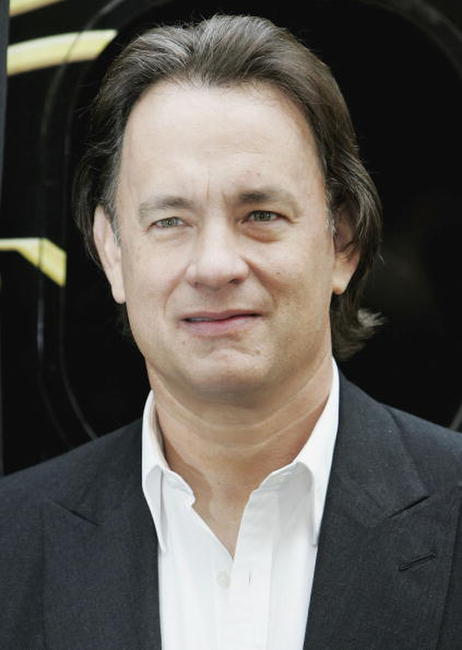 "Tom Hanks at a photocall for ""The Da Vinci Code"" in London, England."