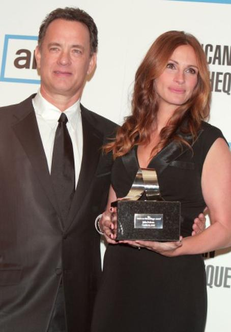 Tom Hanks and Julia Roberts at the 22nd Annual American Cinematheque Award.