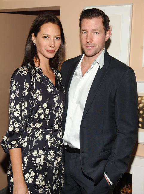 Edward Burns and wife Christy Turlington at a dinner in celebration of the Gucci Tribeca Documentary Fund launch in New York City.