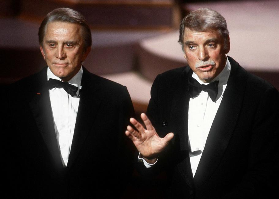 Burt Lancaster and Kirk Douglas at the 57th Annual Academy Awards.