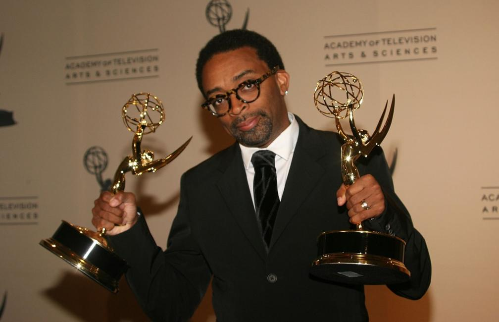 Spike Lee at the Shrine Auditorium for the 2007 Primetime Creative Arts Emmy Awards.