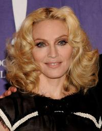 Madonna at the 2008 Rock & Roll Hall of Fame Induction ceremony.