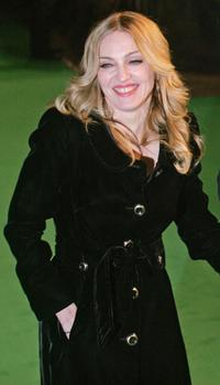 Madonna at the British Premiere of