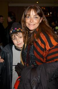 Karen Allen and her son Nick at the world premiere of