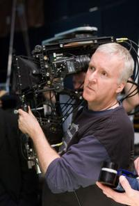 Writer-director James Cameron on the set of
