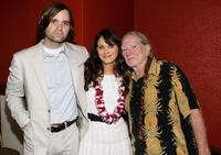 Ben Gibbard, Zooey Deschanel and Willie Nelson at the 10th Annual Maui Film Festival.