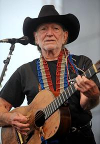 Willie Nelson at the 2008 Bonnaroo Music and Arts Festival.