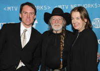 Brian Philips, Willie Nelson and Judy McGrath at the MTV Networks Upfront.