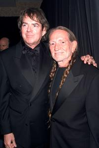 Jimmy Webb and Willie Nelson at the Songwriters Hall of Fame 32nd Annual Awards.