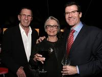 Leonard Nimoy, Susan and Michael Sandler at the opening gala of MOCAs Robert Rauschenberg Exhibition.