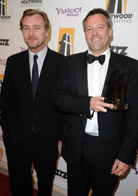 Writer/director Christopher Nolan and Wally Pfister at the 14th Annual Hollywood Awards Gala.