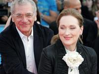 Sydney Pollack and Meryl Streep at the screening of
