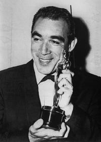 Anthony Quinn at the 29th Academy Awards presentation.