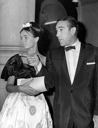 Anthony Quinn and Barbara Stelle at the Gallery of Stars event.