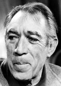 Anthony Quinn at an interview for the movie 'Zorba the