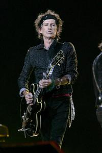 Keith Richards at the Sprint Super Bowl XL Halftime Show.