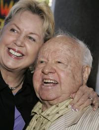 Mickey Rooney and Jan Rooney at the tribute Red Buttons a Celebration of Life and Laughter.