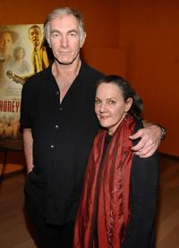John Sayles and Maggie Renzi at the celebration of the Museum of Moving Image honoring himself and Danny Glover at The Times Center.