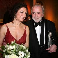Maximilian Schell and Barbara Wussow at the Diva Awards at Deutsches Theater.