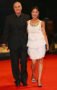 Barbet Schroeder and Lika Minamoto at the premiere of