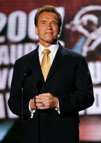 Arnold Schwarzenegger at the 7th Annual Taurus World Stunt Awards in L.A.