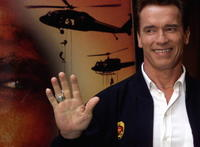 Arnold Schwarzenegger at a Rome photocall for
