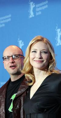 Steven Soderbergh and Cate Blanchett at the photocall for the movie