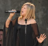 Barbra Streisand performs at the Waldbuehne in Berlin, Germany.