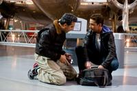 John Turturro as Agent Simmons and Shia LaBeouf as Sam Witwicky in