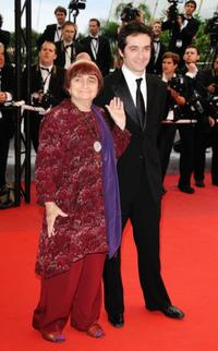 Agnes Varda and Mathieu Demy at the premiere of