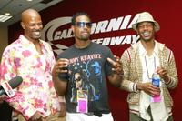 Keenan Ivory Wayans, Marlon Wayans and Shawn Wayans at the California Speedway for the Nextel press conference.
