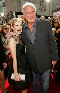 Emma Roberts and Jerry Weintraub at the premiere of