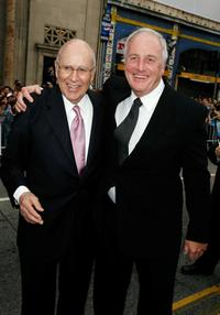 Carl Reiner and Jerry Weintraub at the premiere of