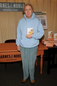 Gene Wilder at the signing of his new book