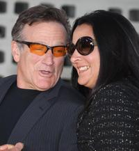 Robin Williams and his wife Marsha Garces Williams at the world premiere of the film