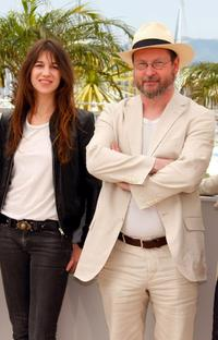 Charlotte Gainsbourg and Lars von Trier at the photocall of