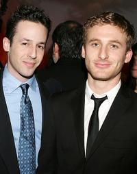 Designer Michael Kovac and Dean O'Gorman at the cocktail reception during the 5th Annual Celebration of New Zealand Filmmaking and Creative Talent in California.