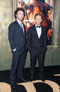Aidan Turner and Dean O'Gorman at the New York premiere of