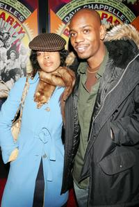 Dave Chappelle and Erykah Badu at the premiere of