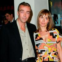 John Hannah and Guest at the UK gala premiere of