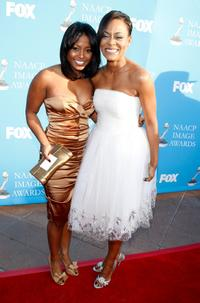 Keshia Knight Pulliam and Robin Givens at the 39th NAACP Image Awards.