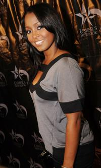 Keshia Knight Pulliam at the launch of the U-Cast Podcast series.
