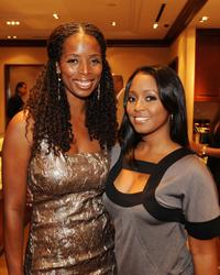 Tasha Smith and Keshia Knight Pulliam at the launch of the U-Cast Podcast series.