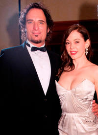 Kim Coates and Rose McGowan at the 2010 USO Gala in Washington DC.
